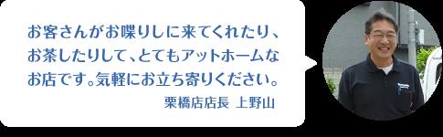 栗橋店店長メッセージ